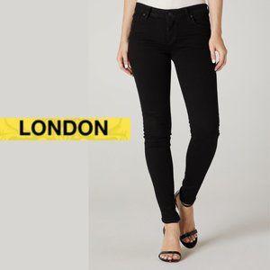 London Low Rise Skinny Jeans - Size 5 - Black